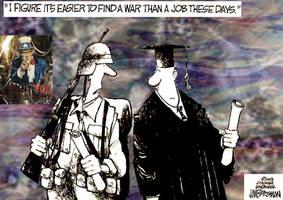 Military political cartoon by black-shaddow-walker