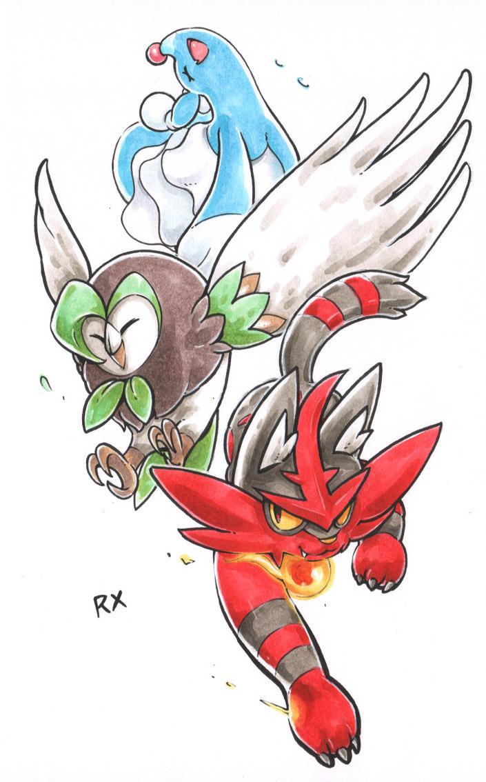 Pokemon SM Starters - Seconds Stage by RX79V
