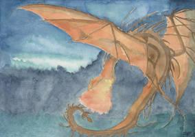 Orange Dragon by UchihaCarol