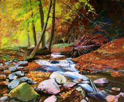 Autumn in the woods by Gudzart
