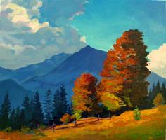Warm autumn by Gudzart