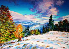 First snow by Gudzart