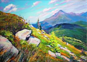 Mount Hoverla by Gudzart