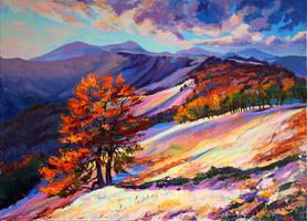Autumn in the mountains by Gudzart