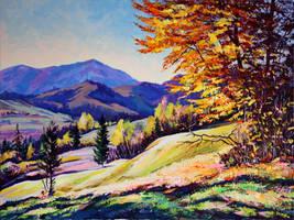 Autumn landscape by Gudzart