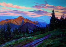 Evening sky by Gudzart