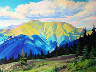 Mountain Range Pishkonia by Gudzart
