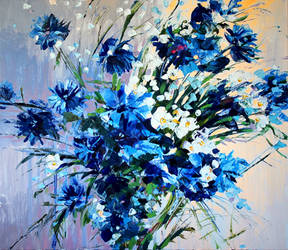 Blue flowers by Gudzart