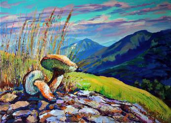 Mushrooms by Gudzart