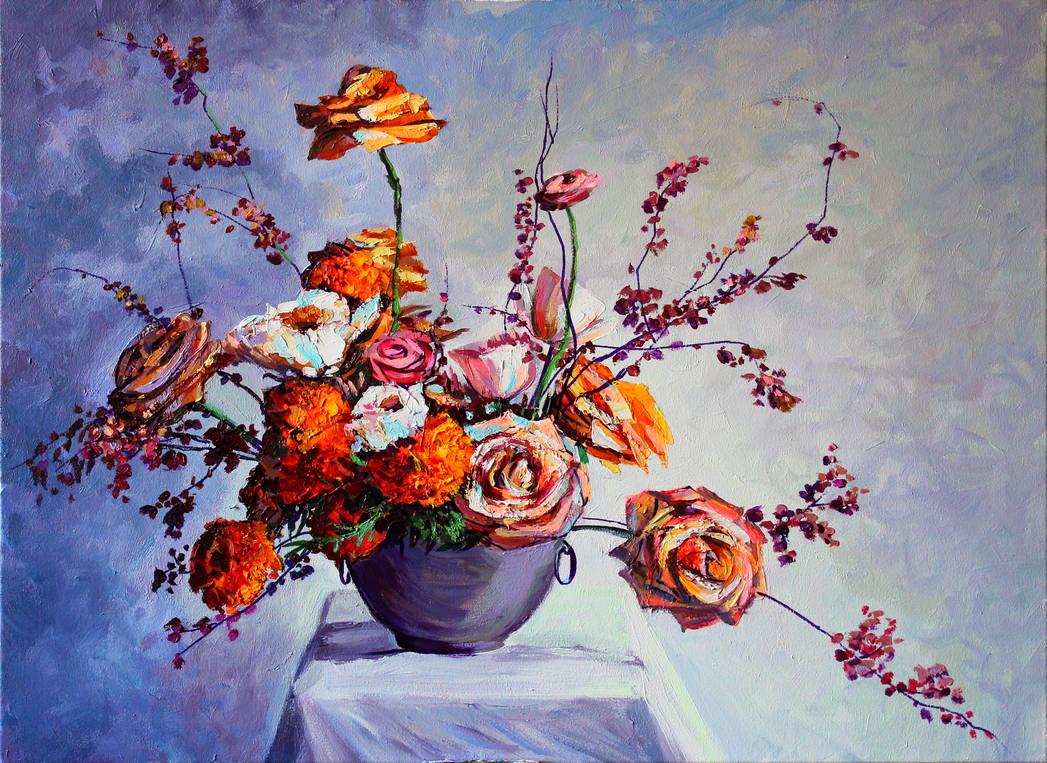 Yellow flowers by Gudzart