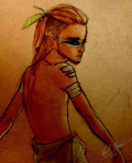 Tribal undercut ponytail guy by pksketch on deviantart tribal undercut ponytail guy by pksketch urmus Images