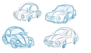 Car Sketches by wabea