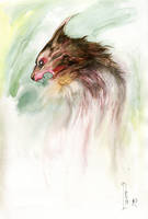 Werewolf Watercolor by MarcoPagnotta