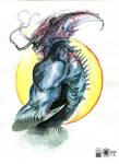 Devilman Watercolor