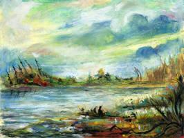 Landscape oil pastels by MarcoPagnotta