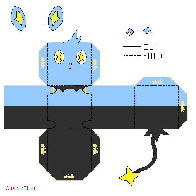Shinx Papercraft by CharrChan