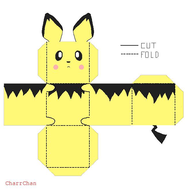 Как сделать покемона из бумаги картинки