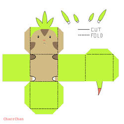 Chespin Papercraft
