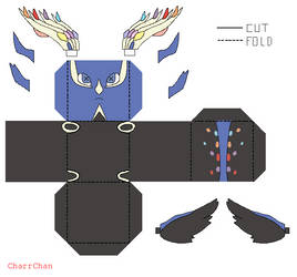 Xerneas - Pokemon Papercraft