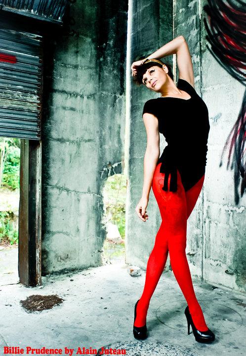 Red Nylon by LadyBilliePrudence