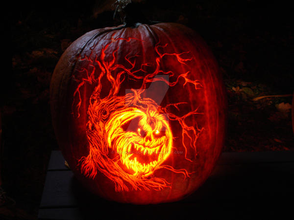 Pumpkin carvings updated by lablayers on deviantart for How to carve tinkerbell in a pumpkin