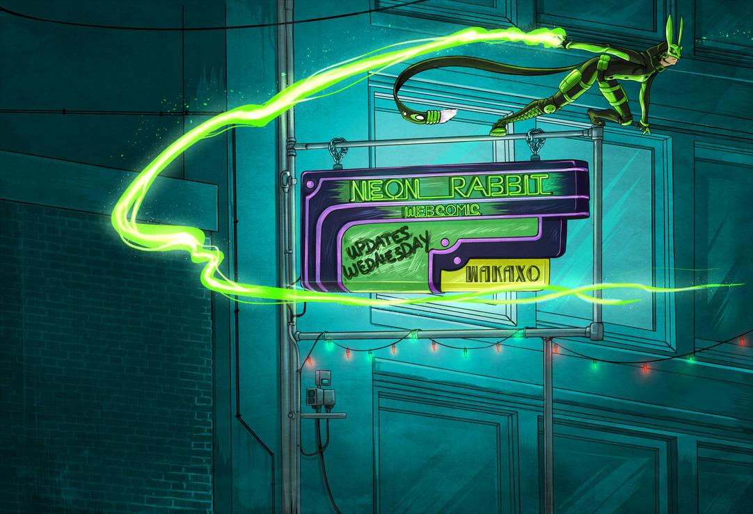 Neon Rabbit Banner 2