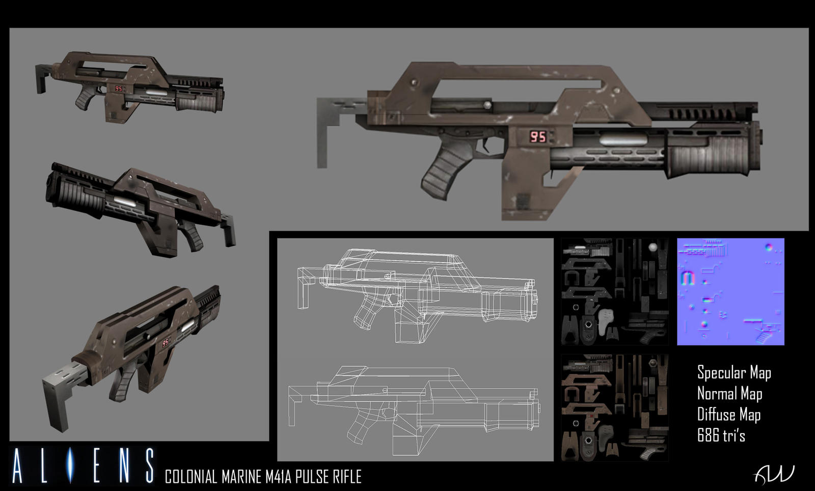 Colonial Marines Pulse Rifle by Tysho