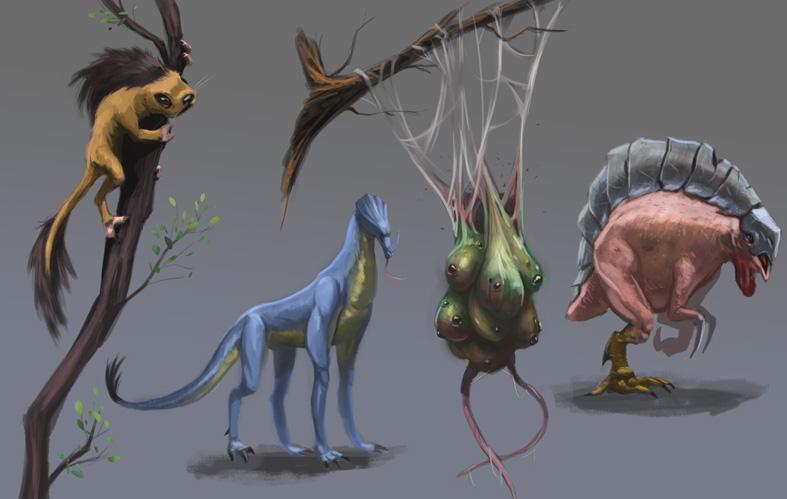 Random creatures by Tysho