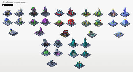 Alien Empire: Building Concepts