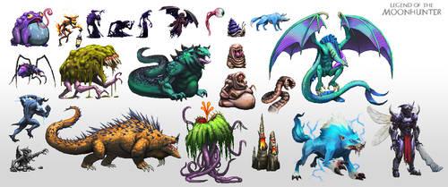 Legend of the Moon Hunter: Pixel Creatures