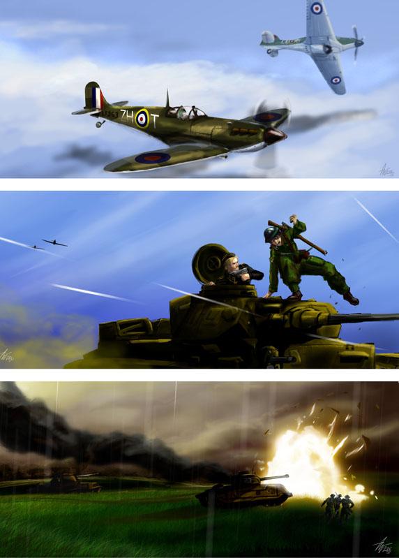 WW2 scenes by Tysho
