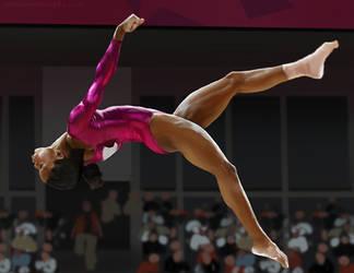 Gymnast lady photo studay 2