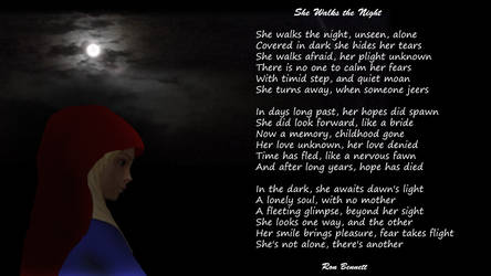 She Walks the Night by ronbennett