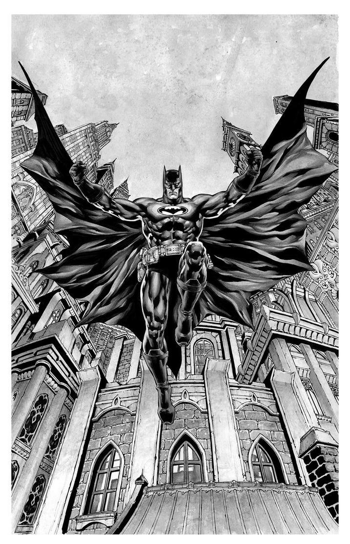 Batman - Gotham from the ground by IbraimRoberson
