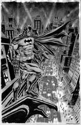 Batman Over Gotham by IbraimRoberson