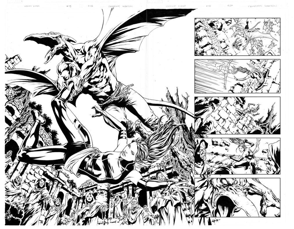 Uncanny X-Men - Spread - Sauron by IbraimRoberson