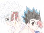 Gon and Killua - Poker Faces