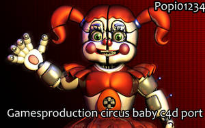 Gamesproduction 2k Circus Baby c4d Port by Popi01234