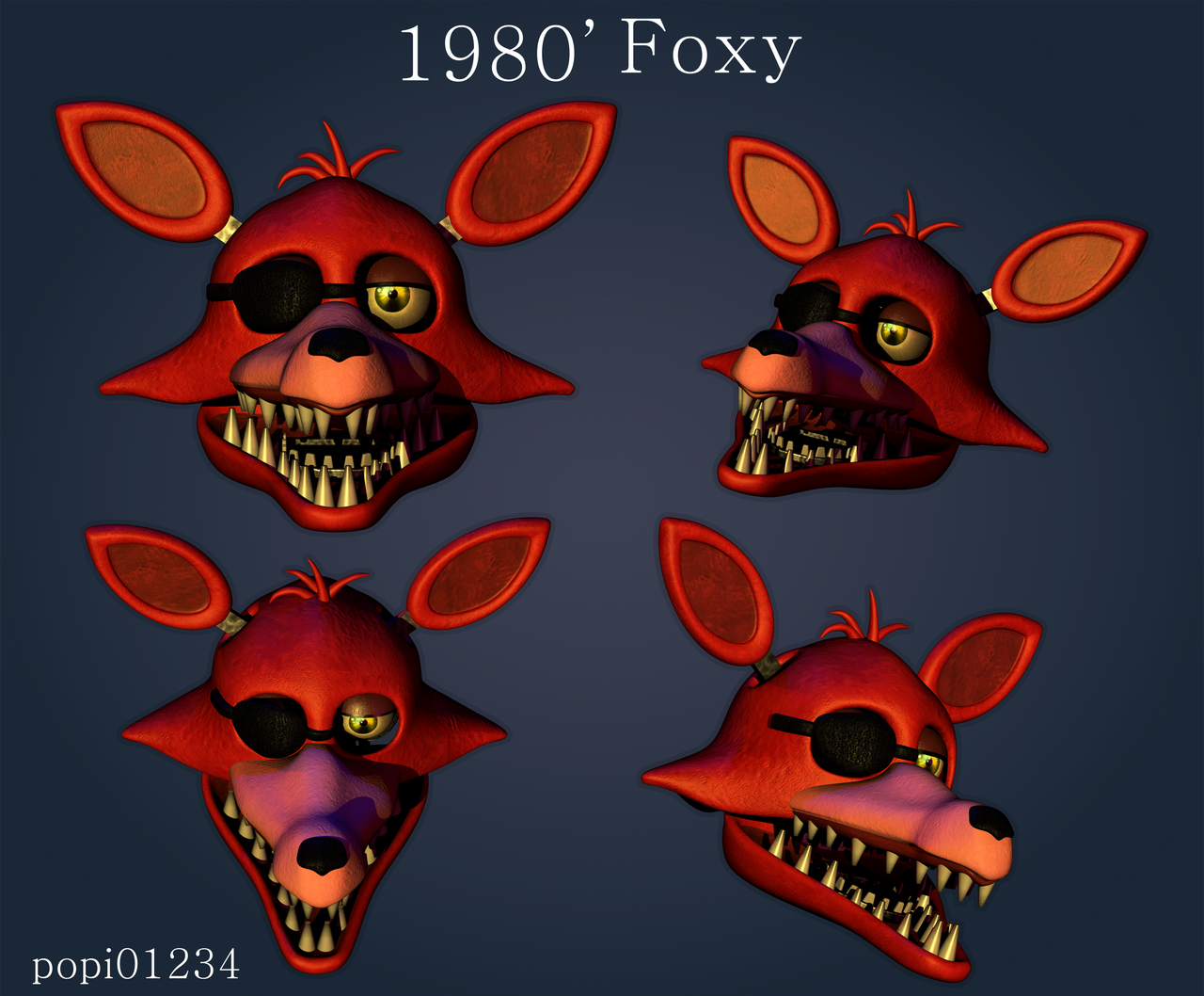 Unwithered Foxy Head By Popi01234 On DeviantArt