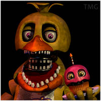 TMG:Unwithered Chica UCN Mugshot by Popi01234