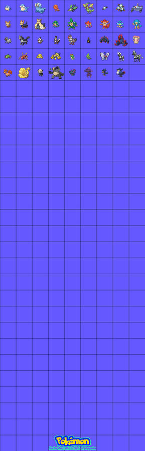 Pokemon Sorta Blue With a Hint of Magenta Pokedex
