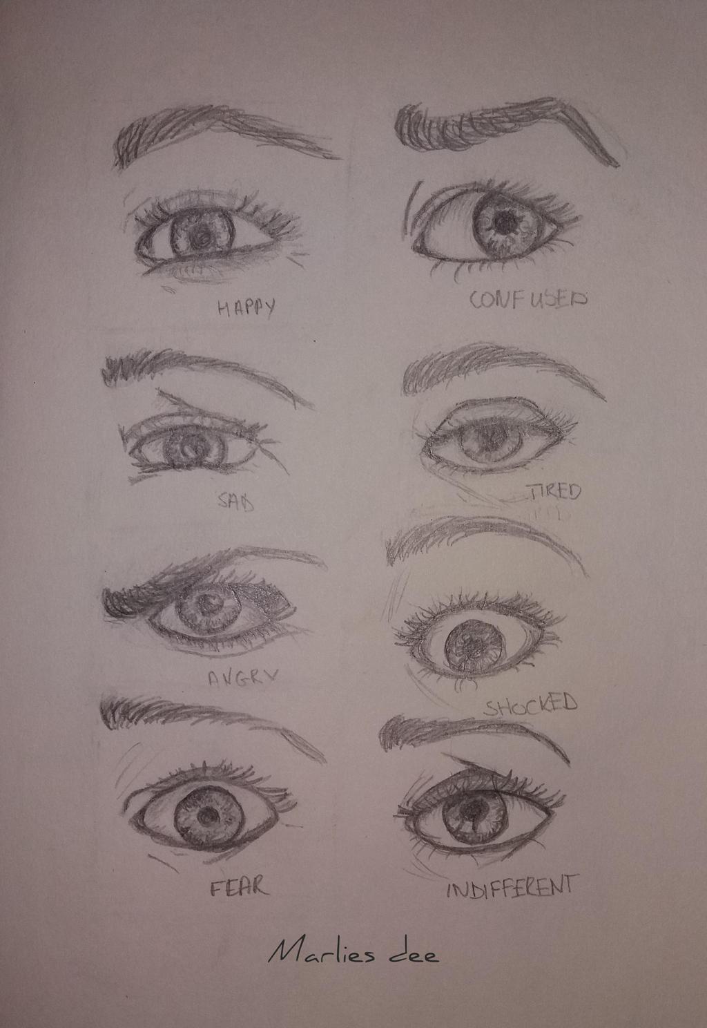 Eyes Sketches_ Emotion