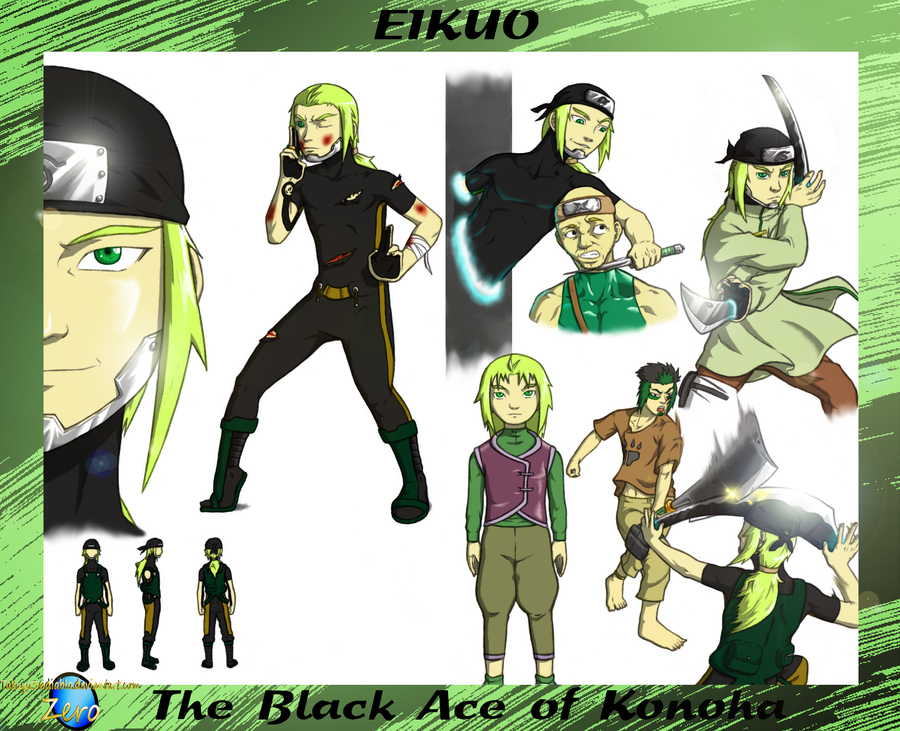 Eikuo - The Black Ace of Konoha 2 by takuya36diablo