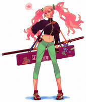 Pink hair girl by DeadSlug