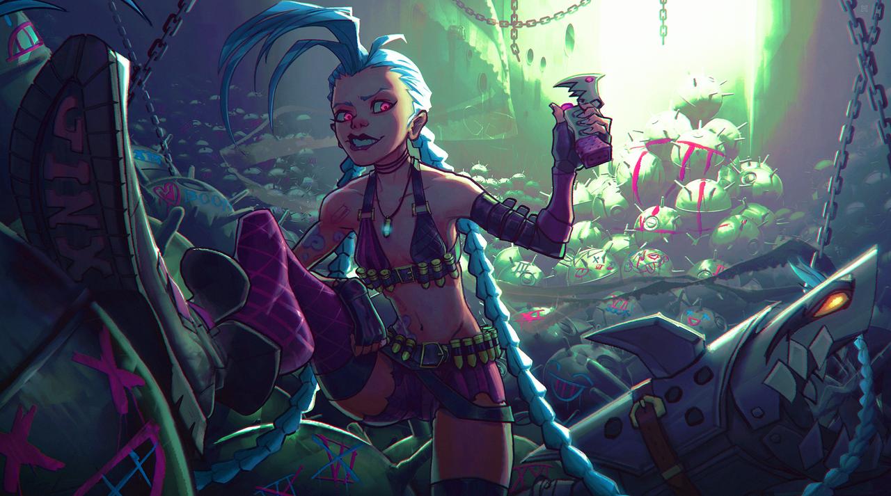 JINX fanart by DeadSlug