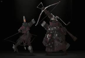 Arrow and Crossbow by DeadSlug