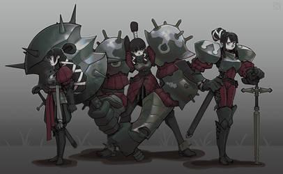 Lady knights by DeadSlug