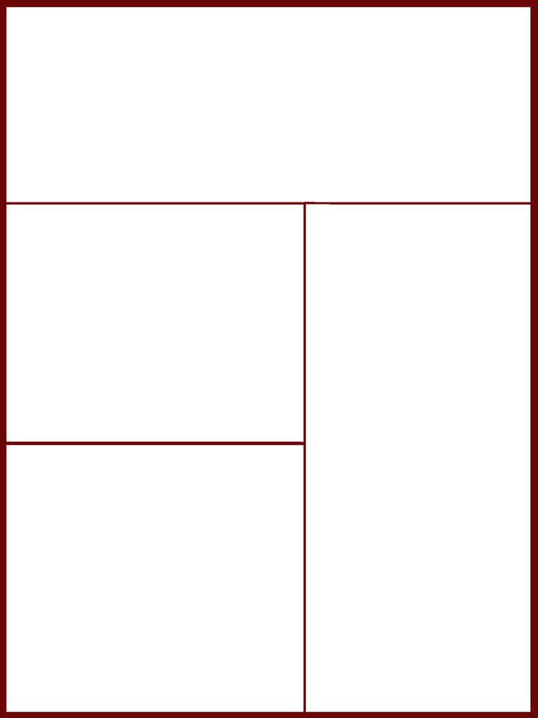 Comic Book Panel Blank Comic book panel template