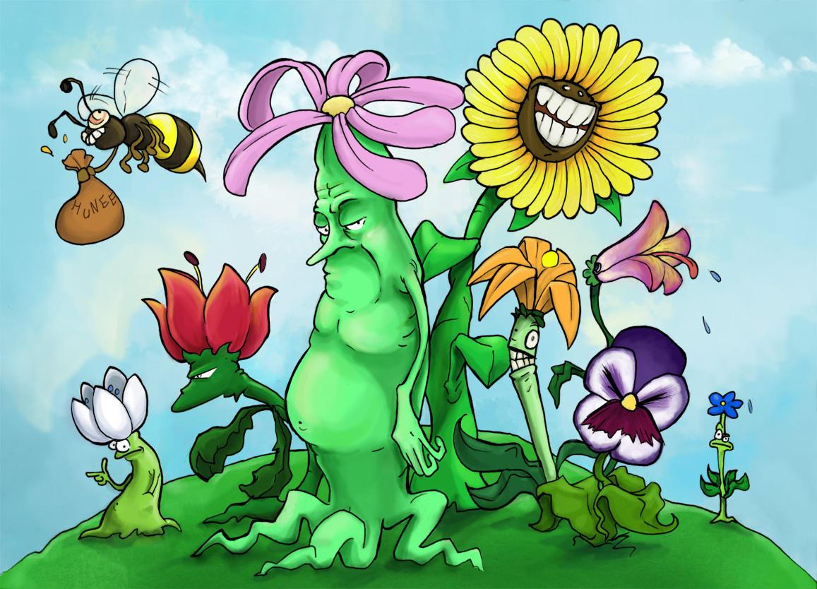 Flower garden cartoon -  Fantastik Flower Garden By Steel Eyes