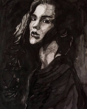 Ink Brush Woman